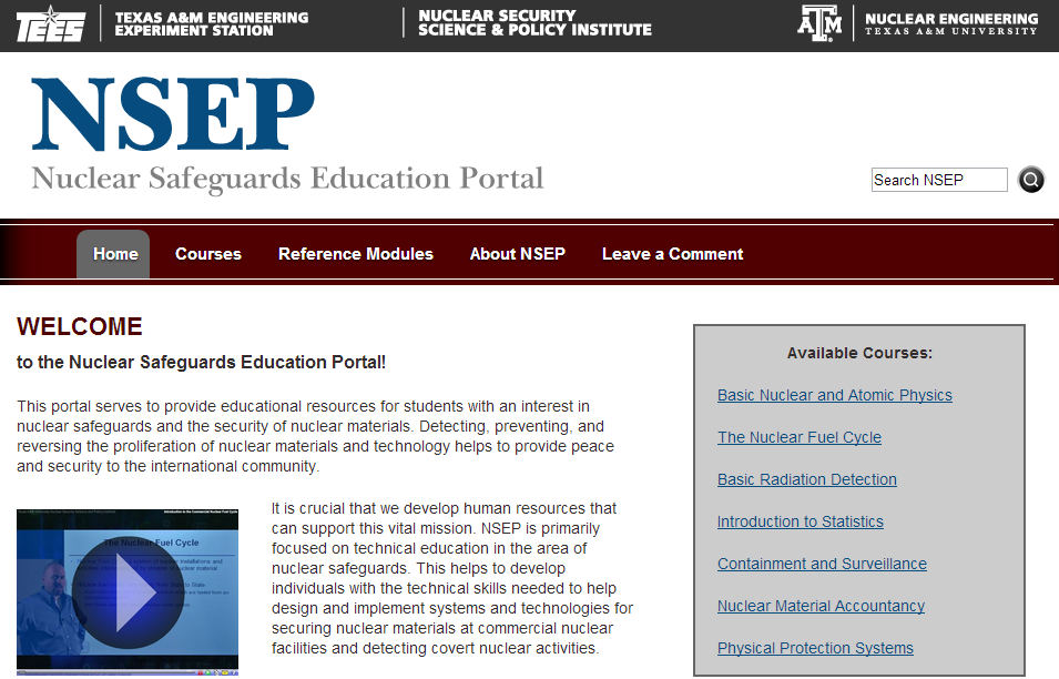 Nuclear Safeguards Education Portal